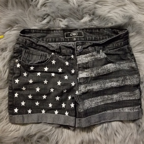 948c89034853 Cato Pants - SALE! American Flag Denim Cato Fashions Shorts